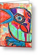 Talkative Baby Bird First This Spring Greeting Card