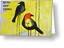 Tall Birds Eat Seeds Greeting Card