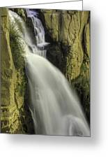 Tall Canyon Waterfalls Greeting Card