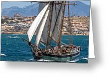 Tall Ship Alicante Greeting Card