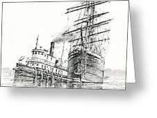 Tall Ship Assist Greeting Card