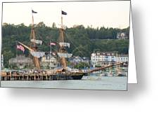 Tall Ship Greeting Card by Brett Geyer