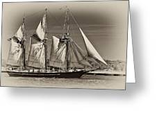 Tall Ship II Greeting Card