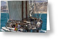 Tall Ship Isla Ebusitania  Greeting Card