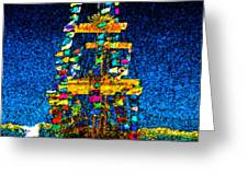 Tall Ship Jose Gasparilla Greeting Card