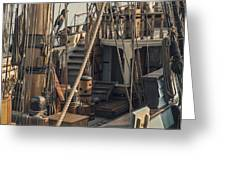 Tall Ship Kalmar Nyckel Ropes Greeting Card