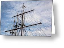 Tall Ship Masts Greeting Card
