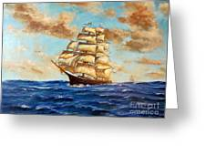 Tall Ship On The South Sea Greeting Card