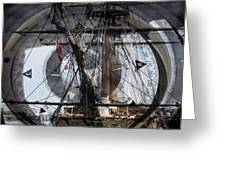 Tall Ship With Compass 2013 Greeting Card