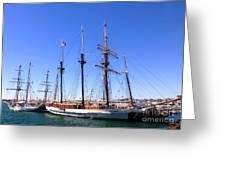Tall Ships Big Bay Greeting Card