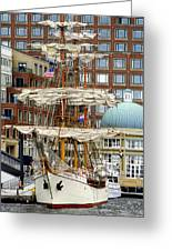 Tall Ships In Boston Greeting Card
