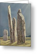 Tall Stones Of Callanish Isle Of Lewis Greeting Card by Evangeline Dickson