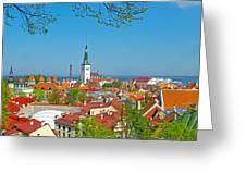 Tallinn From Plaza In Upper Old Town-estonia Greeting Card