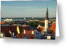 Tallinn Old Town 3 Greeting Card