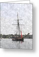 Tallship Providence Prwc Greeting Card