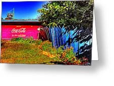 Tallulah Point Overlook Coke Sign Greeting Card