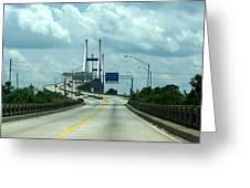 Talmadge Memorial Bridge In Savannah Georgia  Greeting Card