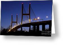 Talmadge Memorial Bridge Savannah Greeting Card