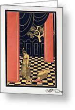 Tamara Karsavina Greeting Card by Georges Barbier