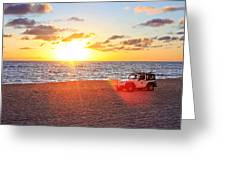 Tamarack At Sunset Greeting Card