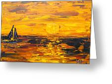 Tamarindo Sailboat Sunset Greeting Card