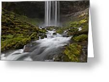 Tamawanas Falls In Summer Greeting Card