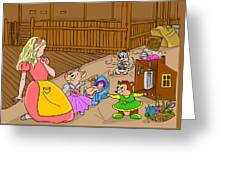 Tammy And Her Playmates Greeting Card