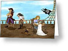 Tammy And The Pirates Greeting Card