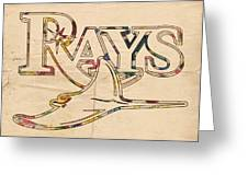 Tampa Bay Rays Logo Art Greeting Card