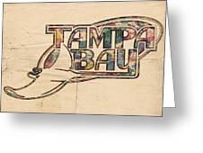 Tampa Bay Rays Poster Art Greeting Card