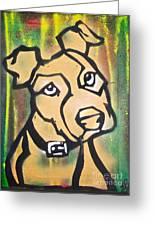 Tan Dog Greeting Card