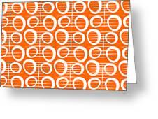 Tangerine Loop Greeting Card