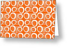 Tangerine Loop Greeting Card