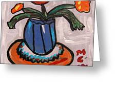 Tangerine Table Greeting Card