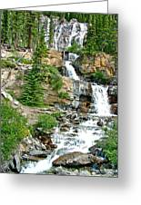 Tangle Falls Along Icefield Parkway In Alberta Greeting Card