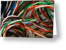 Tangle Of Colorful Wires Greeting Card
