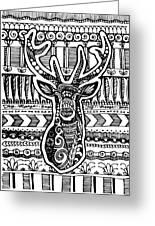Tangled Deer Greeting Card