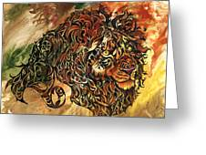 Tangled Lion Greeting Card