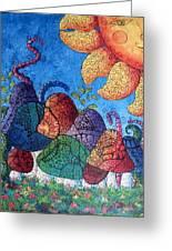 Tangled Mushrooms Greeting Card