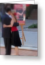 Tango Dancing On The Street Greeting Card
