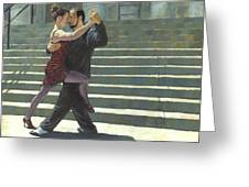 Tango On The Square Greeting Card