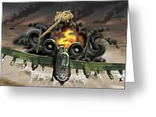Tank Plinking With The A-10 Greeting Card