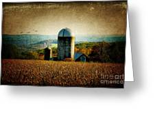 Tanner Hill Farm In The Fall Connecticut Usa Greeting Card