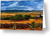 Tanque Verde Ranch Tucson Az Greeting Card