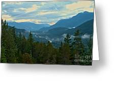 Tantalus Mountain Afternoon Landscape Greeting Card