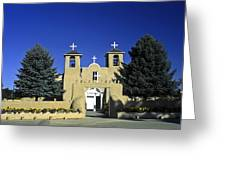 Taos Adobe Church Greeting Card