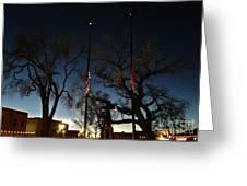 Taos At Night Greeting Card
