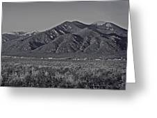 Taos In Black And White II Greeting Card