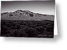 Taos In The Zone Greeting Card