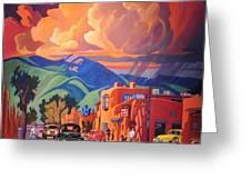 Taos Inn Monsoon Greeting Card
